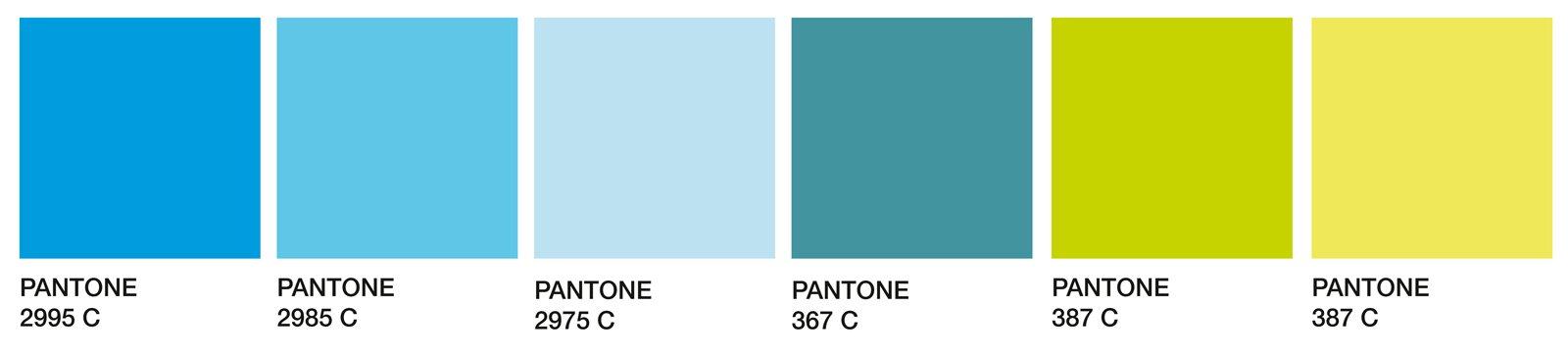 Soggiorno in verde e azzurro per un 39 estate di 365 giorni for Palette di colori per pareti