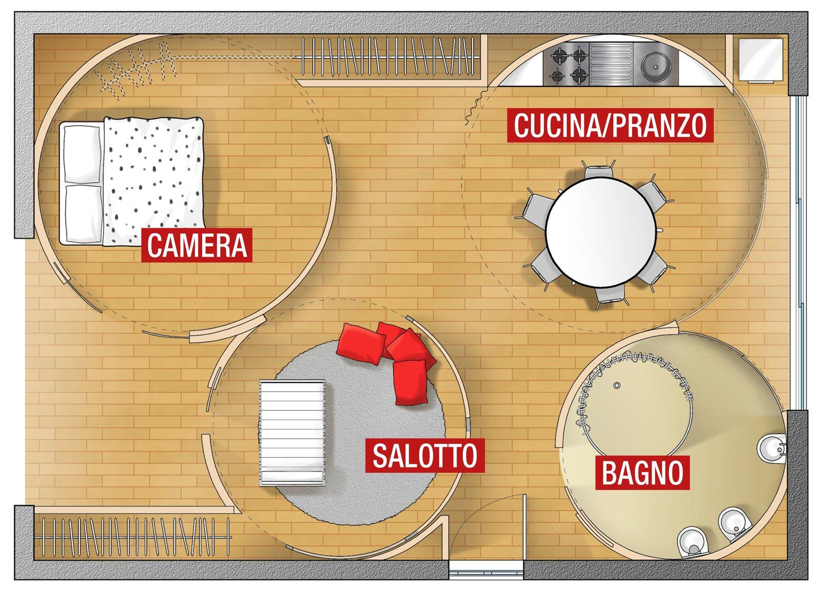 Pareti mobili per definire gli ambienti cose di casa for Arredamento per fiere