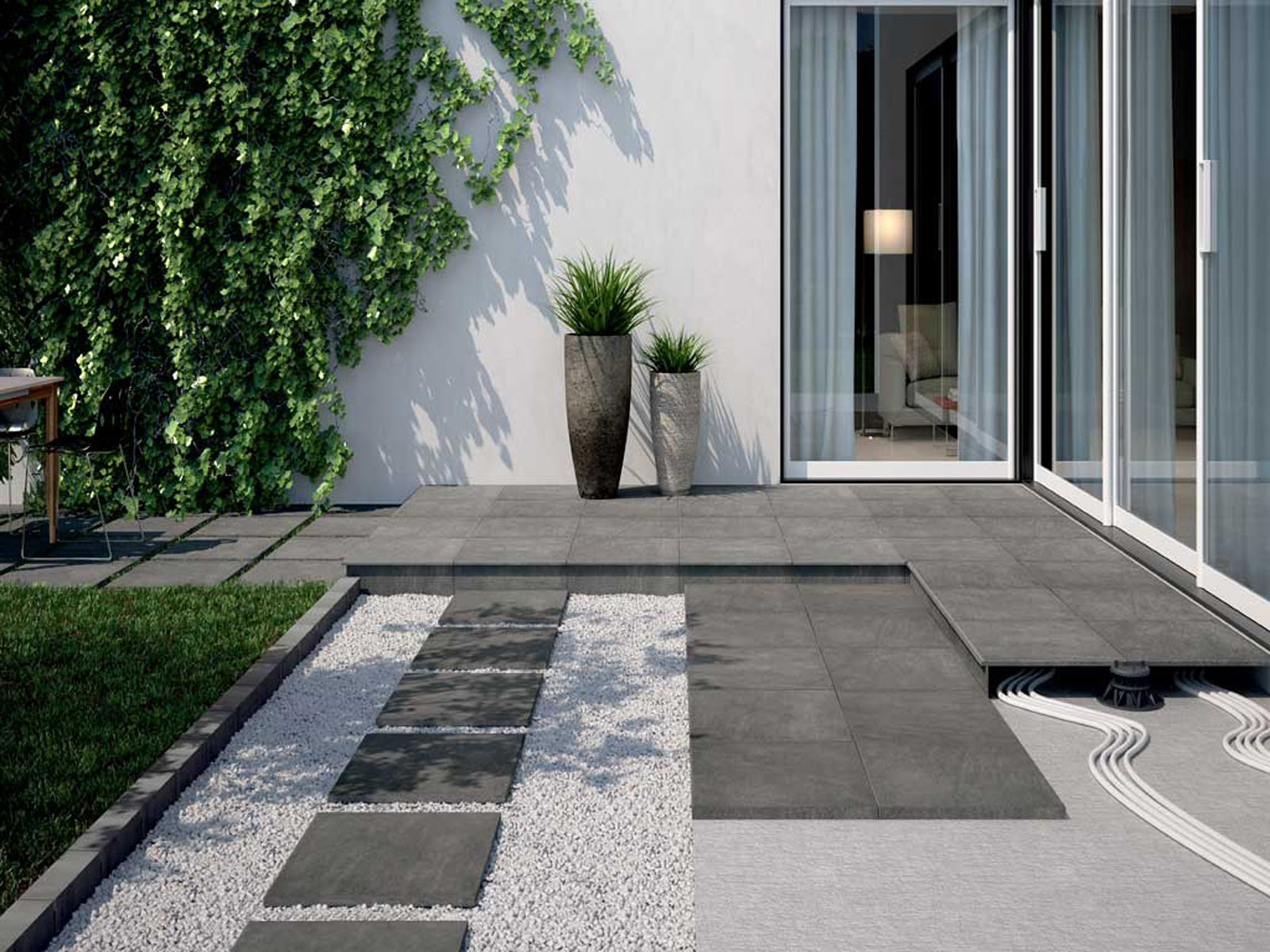 Piastrelle per esterni che materiale scegliere cose di casa for Piante per ingresso esterno