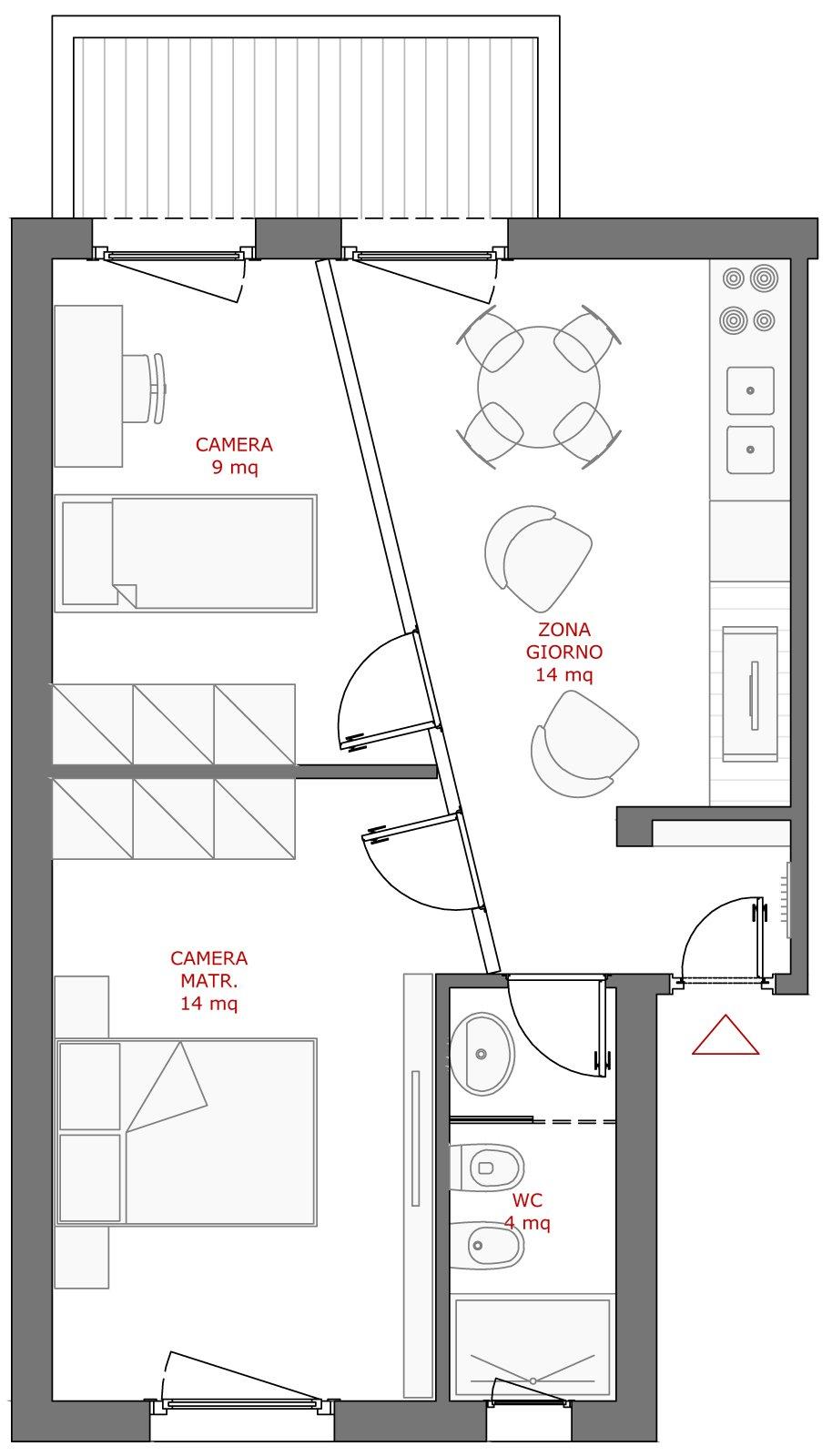 Da cucina a seconda camera cose di casa for 2 bagni piccola casa