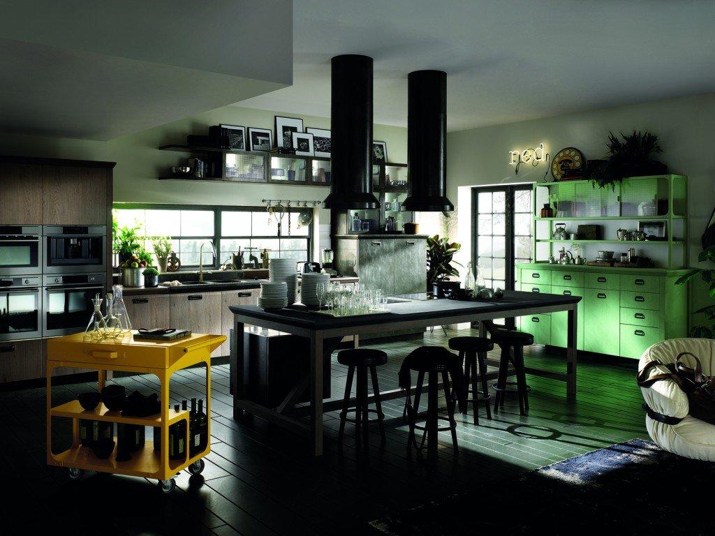 Cucina scavolini con diesel soluzioni di design per un for Negozio con alloggi al piano di sopra