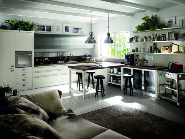 Cucina scavolini con diesel soluzioni di design per un atmosfera vintage cose di casa - Banco colazione cucina ...