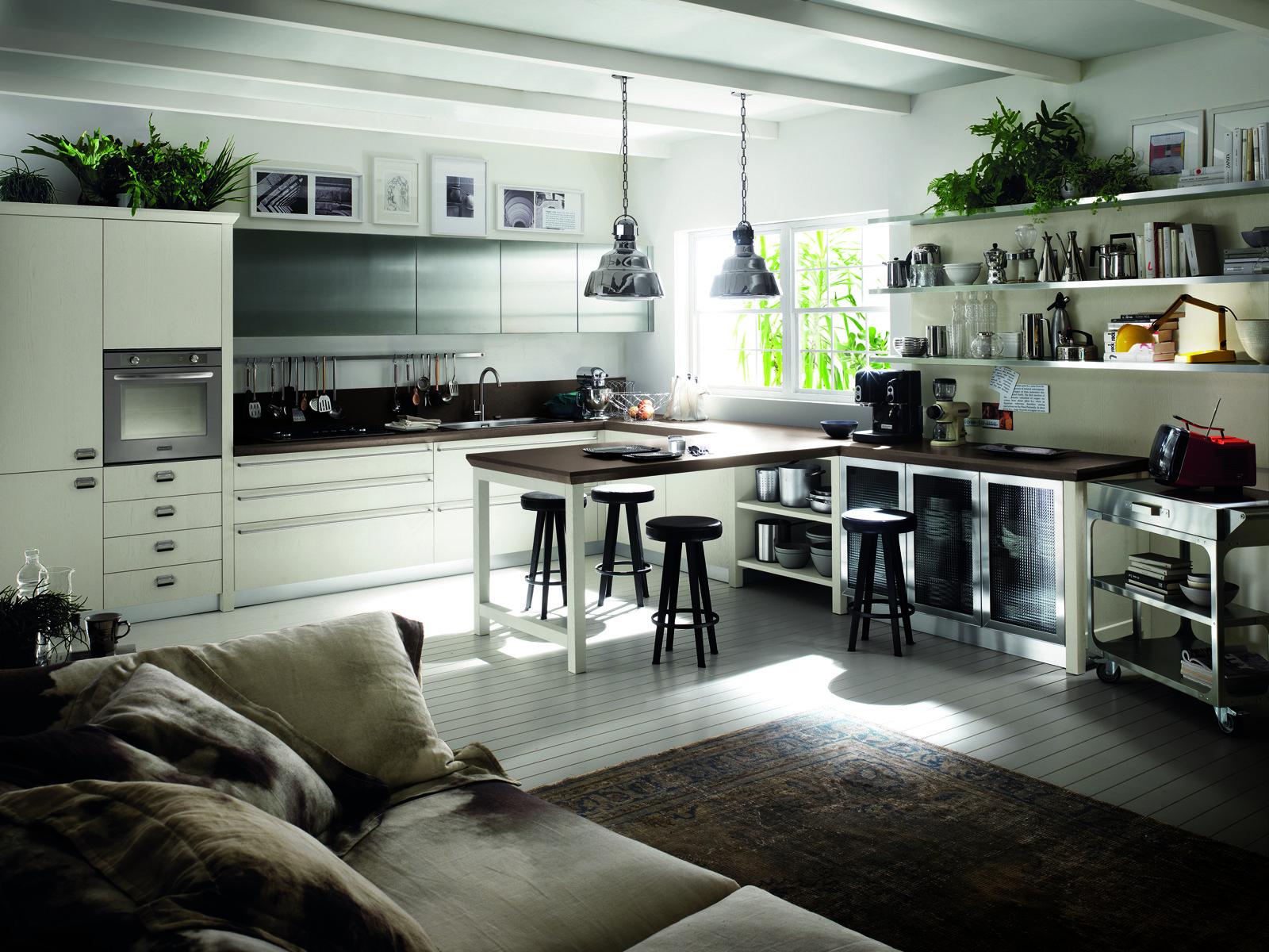 Cucina scavolini con diesel soluzioni di design per un for Cucina living