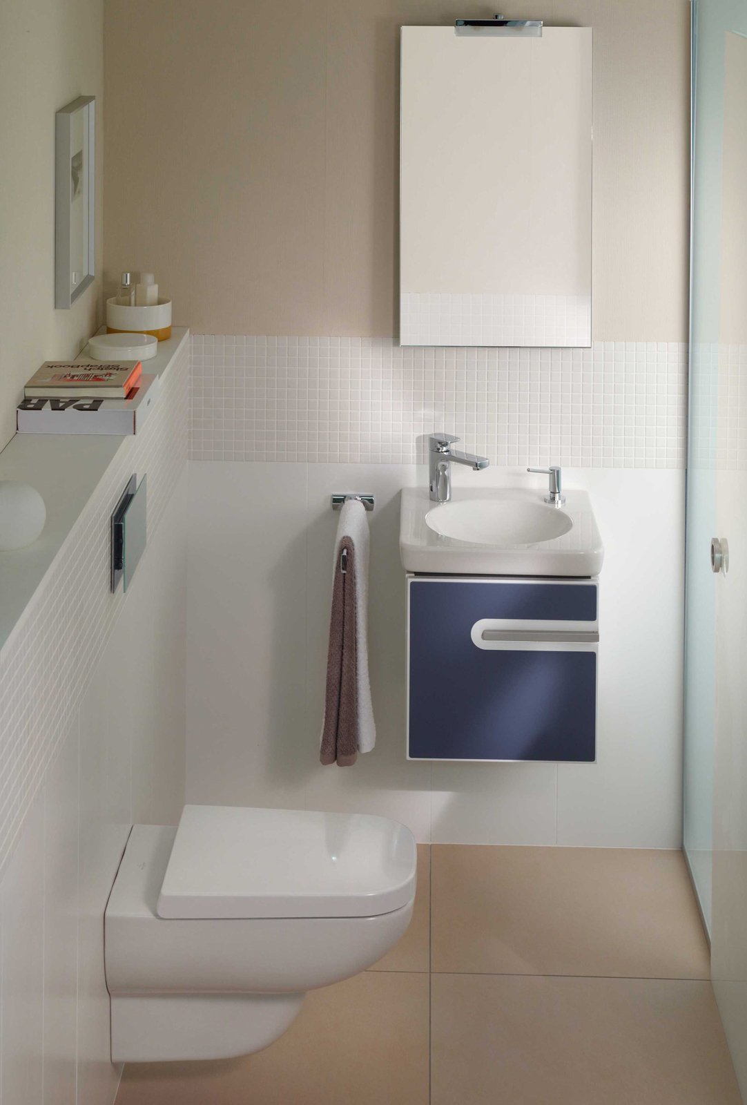 Bagni design piccoli spazi: mobile bagno sospeso moderno finitura ...