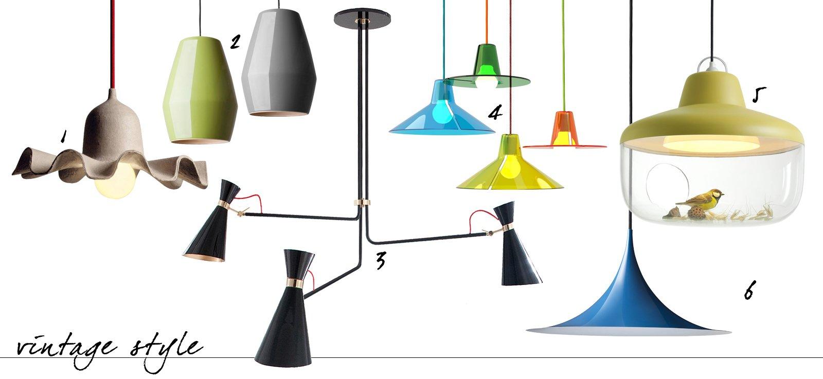 Lampade e lampadari a sospensione in tre stili diversi for Lampadari pendenti