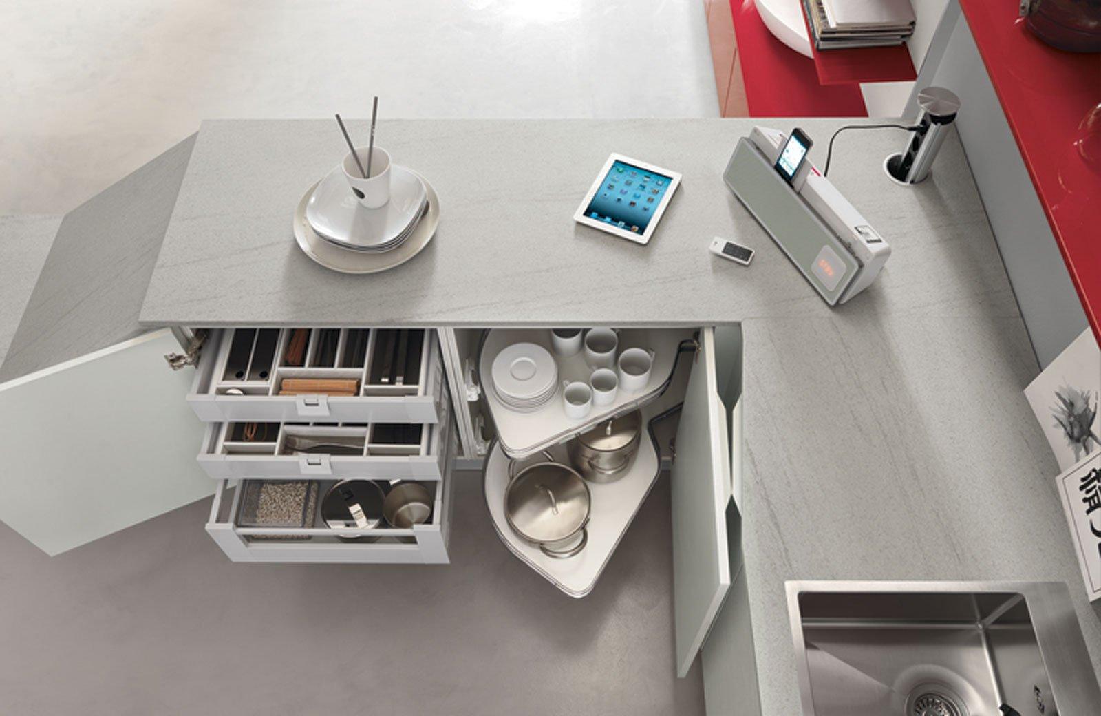 Cucina la comodit dipende anche dall 39 interno cose di casa for Disegni della cucina con a piedi in dispensa