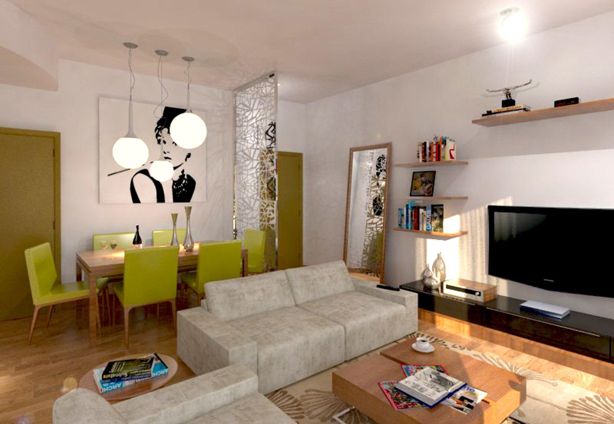 Idee Lampadari Soggiorno : soggiorno moderno con divano e tavolo 1 ...
