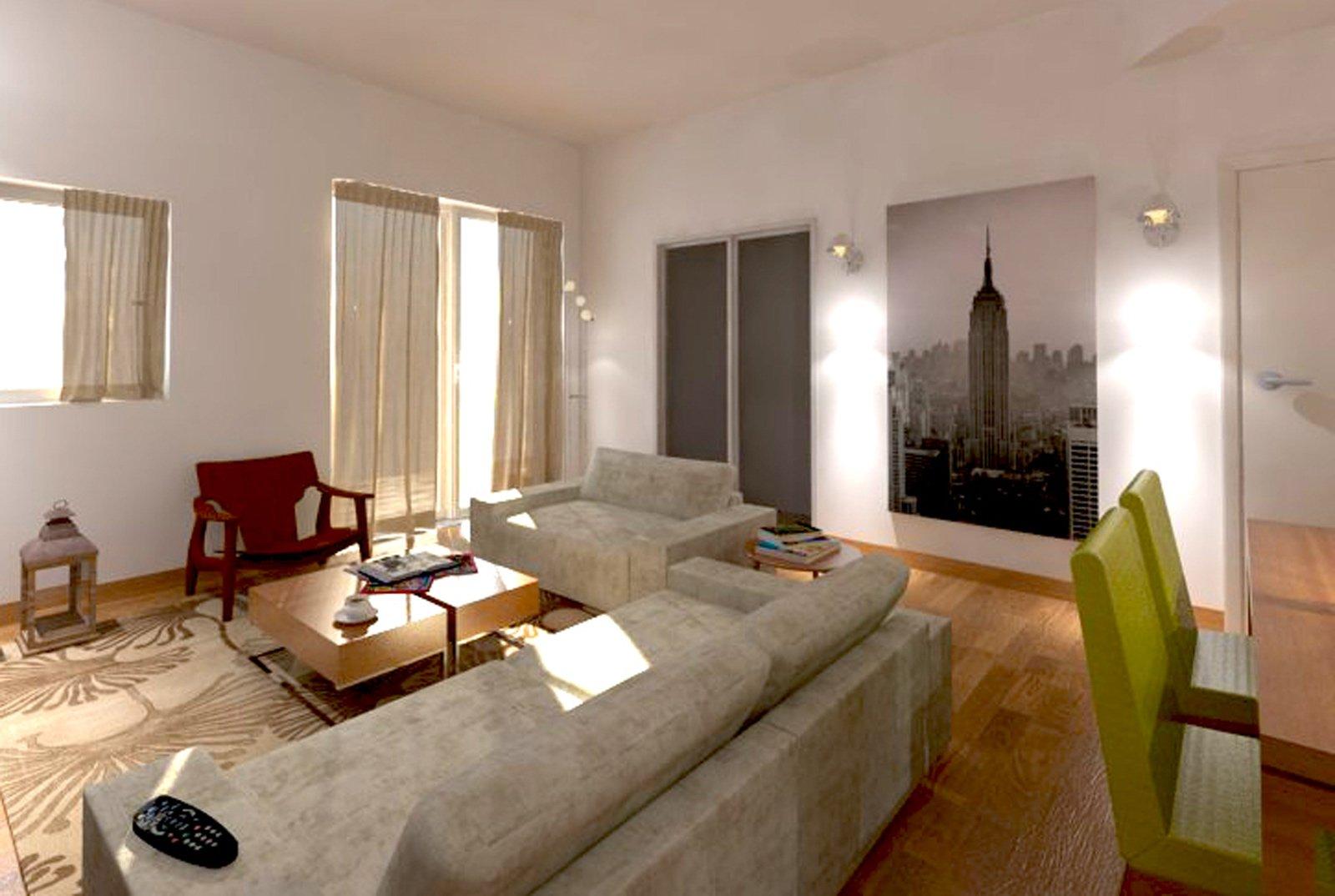 Divano luci e tavolo quale disposizione cose di casa - Luci soggiorno moderno ...