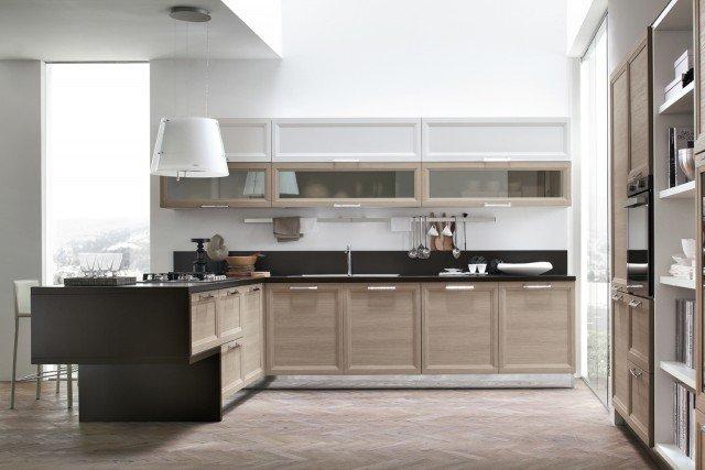 Cucine con penisola cose di casa for Color tabacco mobili