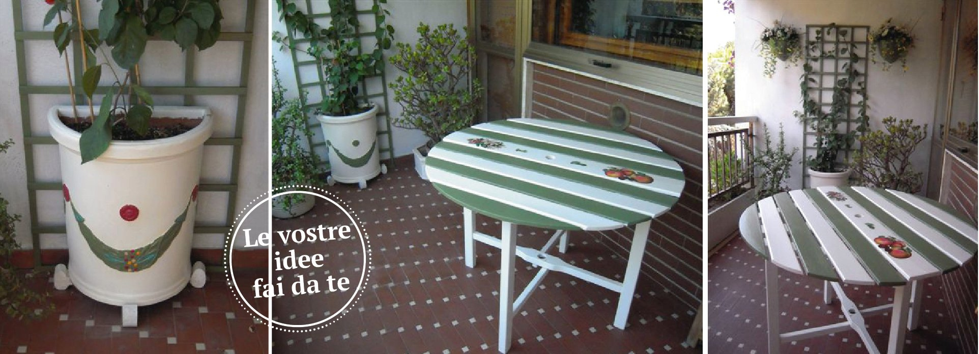 Tavolo e vaso da esterni coordinati cose di casa for Architetto fai da te