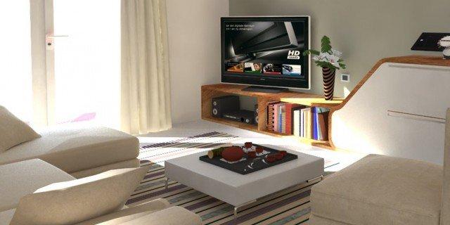 Ricavare in soggiorno una zona studio e tanto spazio per contenere