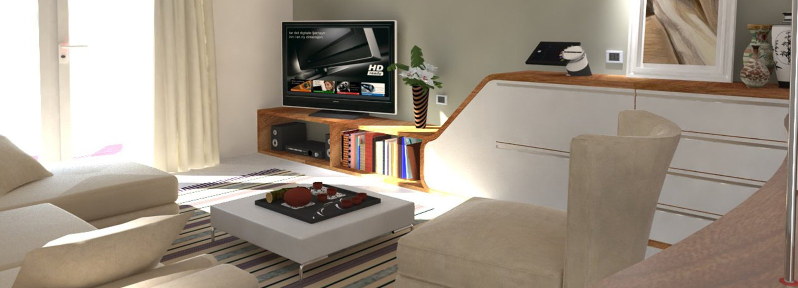 Ricavare in soggiorno una zona studio e tanto spazio per contenere - Cose di ...