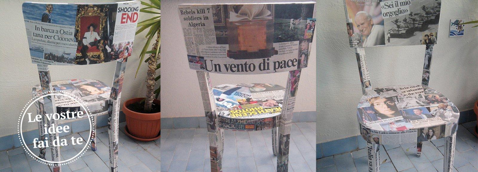 Sedie rivestite di giornali cose di casa - Giornali di cucina ...