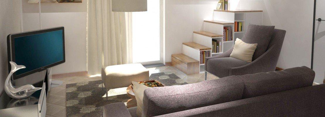 Arredare un soggiorno con tante aperture sulle pareti for Console per salotto
