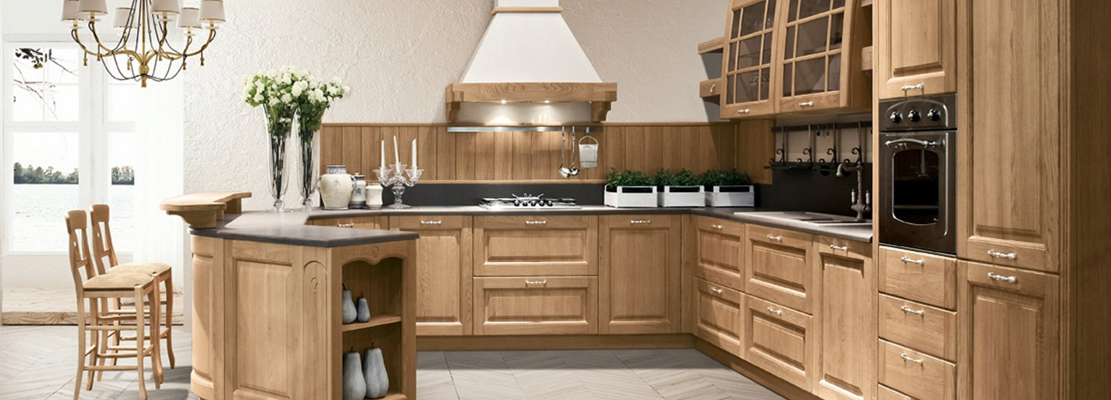 Cucina in legno moderna o classica cose di casa for Casa classica moderna