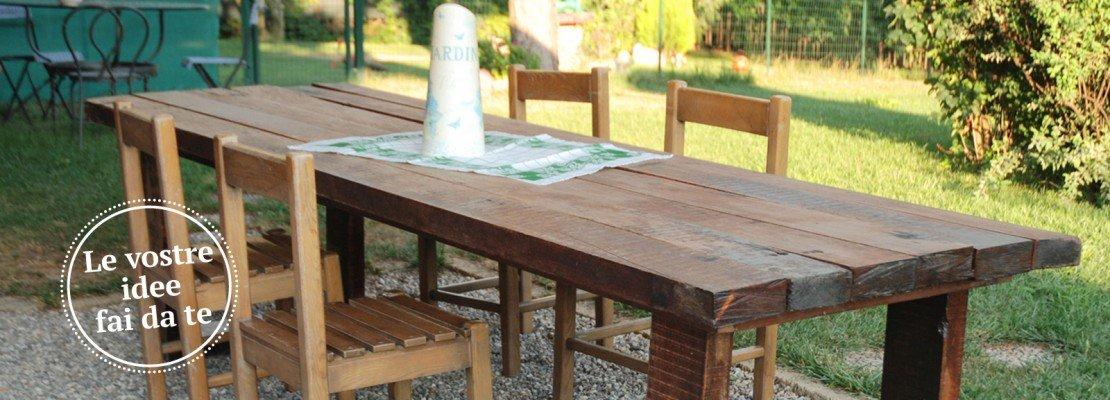 Un maxi tavolo in legno di recupero cose di casa - Levigare il parquet senza togliere i mobili ...