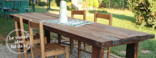 Costruire un tavolo cose di casa - Costruire tavolo in legno ...