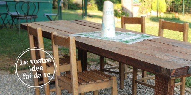 Costruire Un Tavolo In Legno Da Giardino.Un Maxi Tavolo In Legno Di Recupero Cose Di Casa
