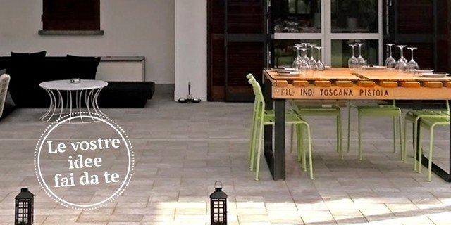 Un tavolo con materiale di recupero cose di casa for Ristrutturare casa fai da te