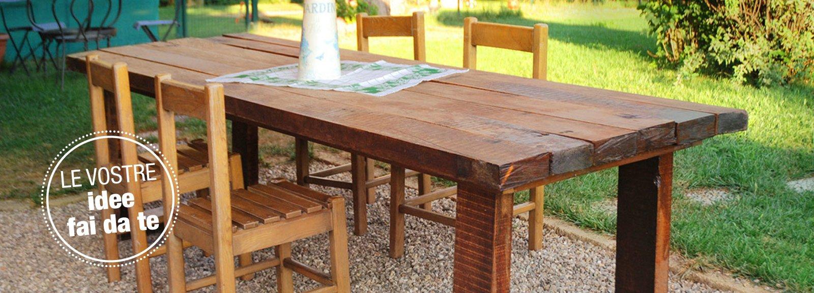 Legno Idee Fai Da Te un maxi tavolo in legno di recupero - cose di casa