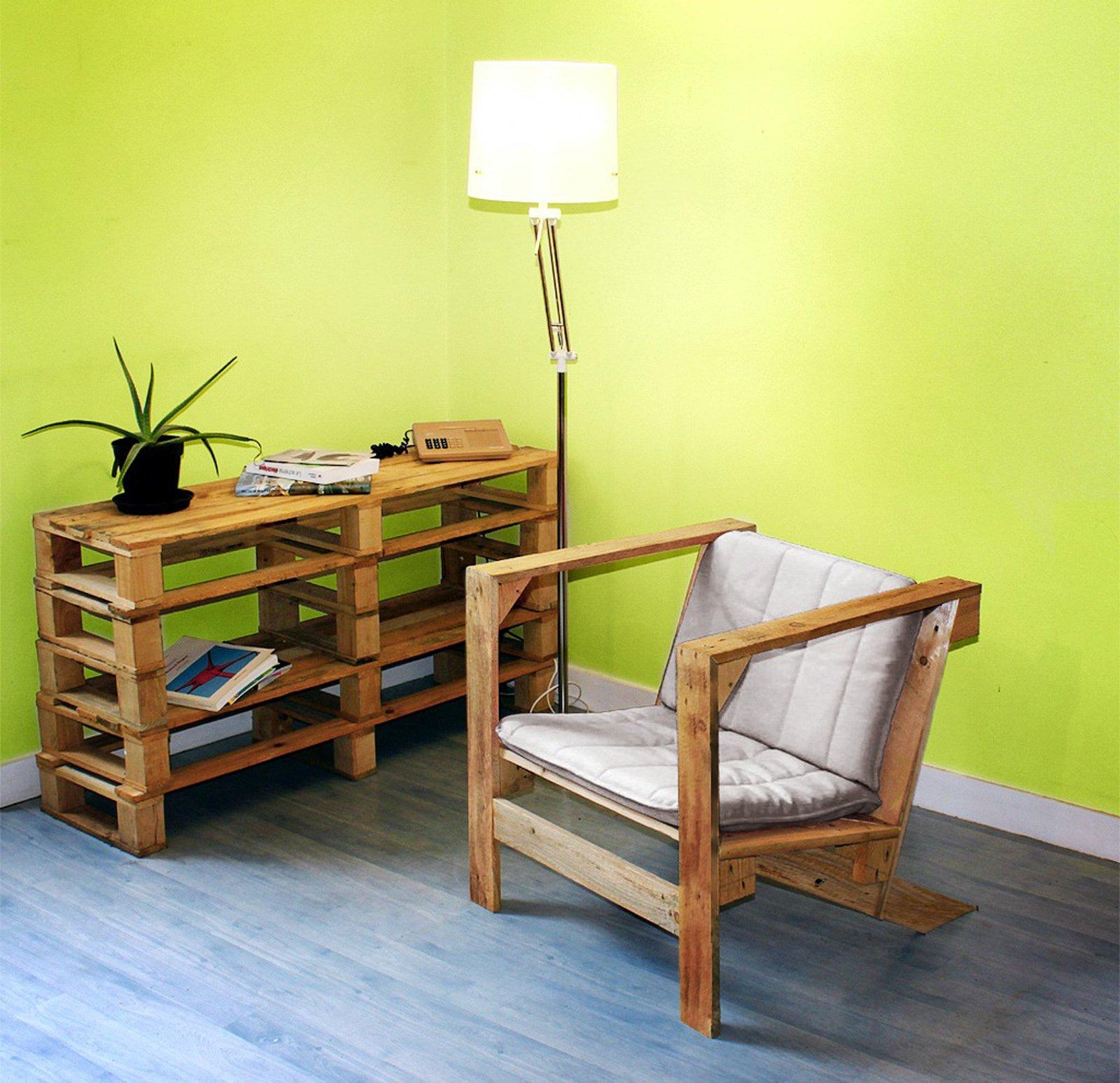 Pallet da supporto per le merci ad arredo ecosostenibile - Mobili con bancali di legno ...