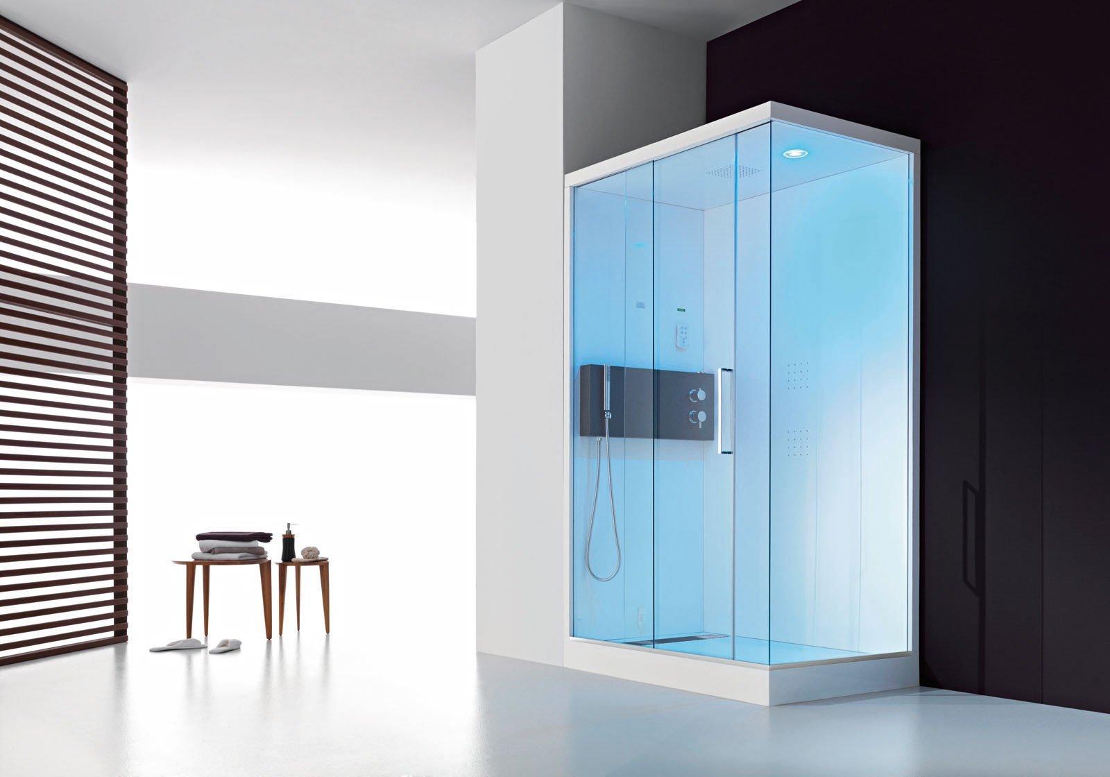 scorrevole il box doccia multifunzione Soul di Hafro in cristallo ...