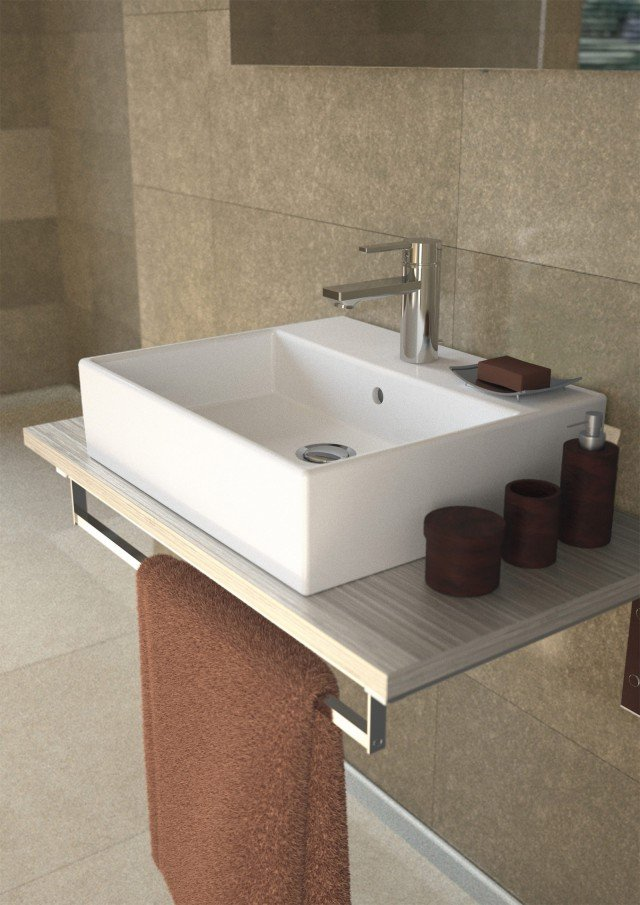 Il lavabo con troppopieno in ceramica bianca Strada di Ideal Standard nella versione squadrata è pensato per installazione sospesa o da appoggio sospesa con mobile. Misura L 50 x P 42 cm. Prezzo 251 euro. www.idealstandard.it