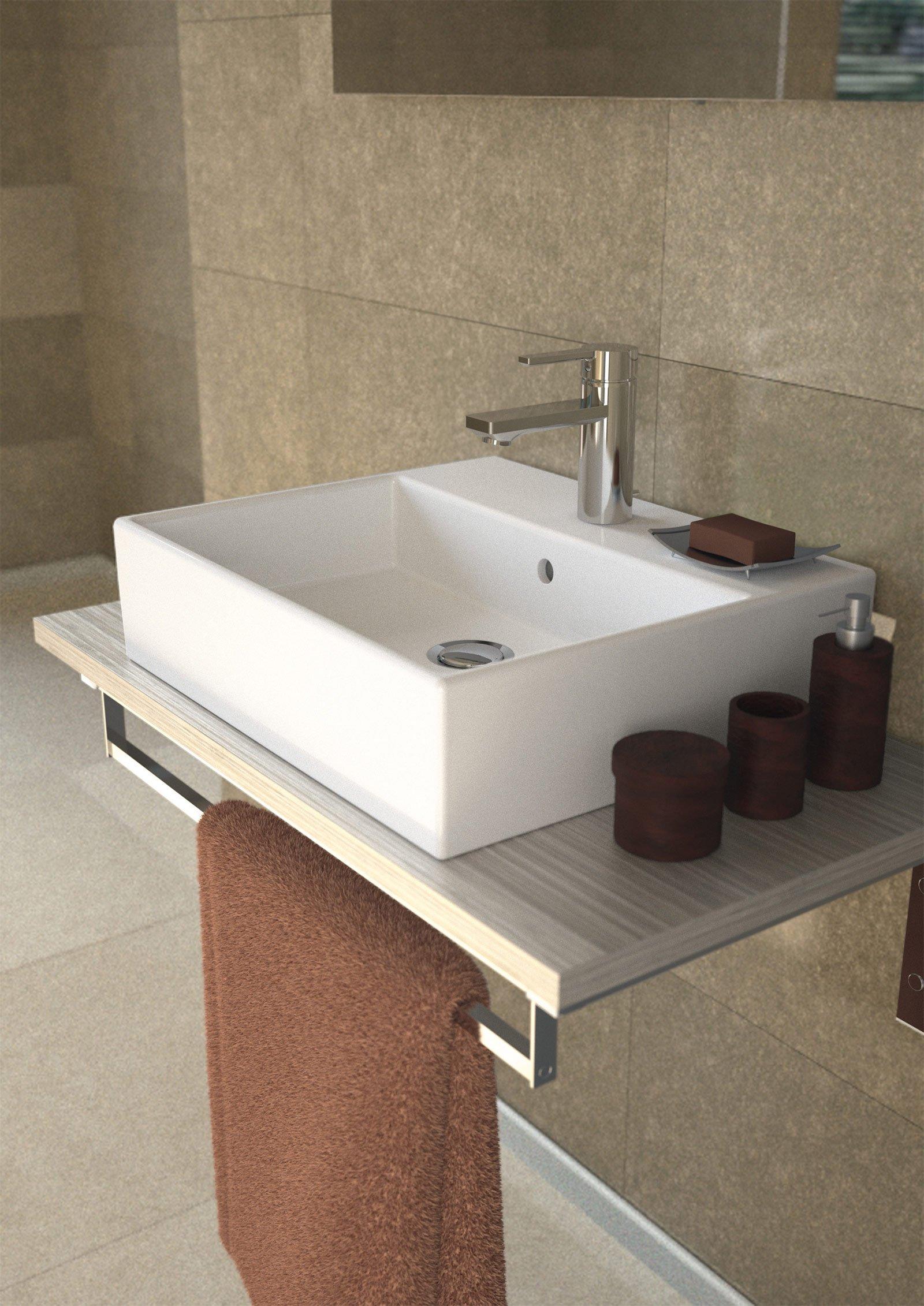 mobili da bagno ideal standard il lavabo con troppopieno in ceramica bianca strada di ideal