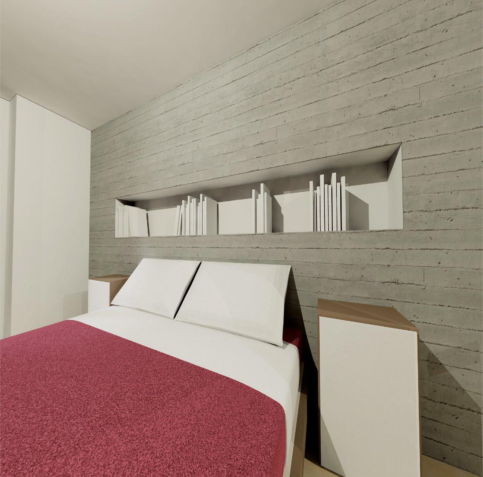 70 mq ma sembrano di pi cose di casa - Camera da letto con parete in cartongesso ...