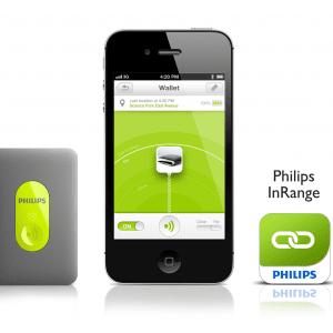 Philips InRange funziona tramite Bluetooth 4.0 ed è compatibile con iPhone e iPad. Funziona inserendo un chip spesso 3,8 mm nell'oggetto che si vuole facilmente rintracciare. Prezzo 49.99 euro. www.philips.it