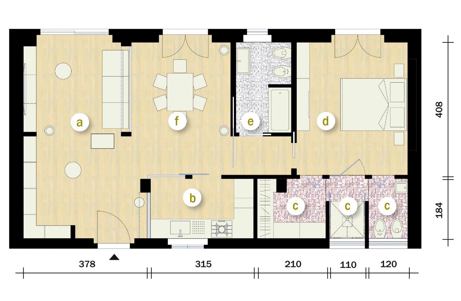 70 mq ma sembrano di pi cose di casa for Casa di 2000 metri quadrati