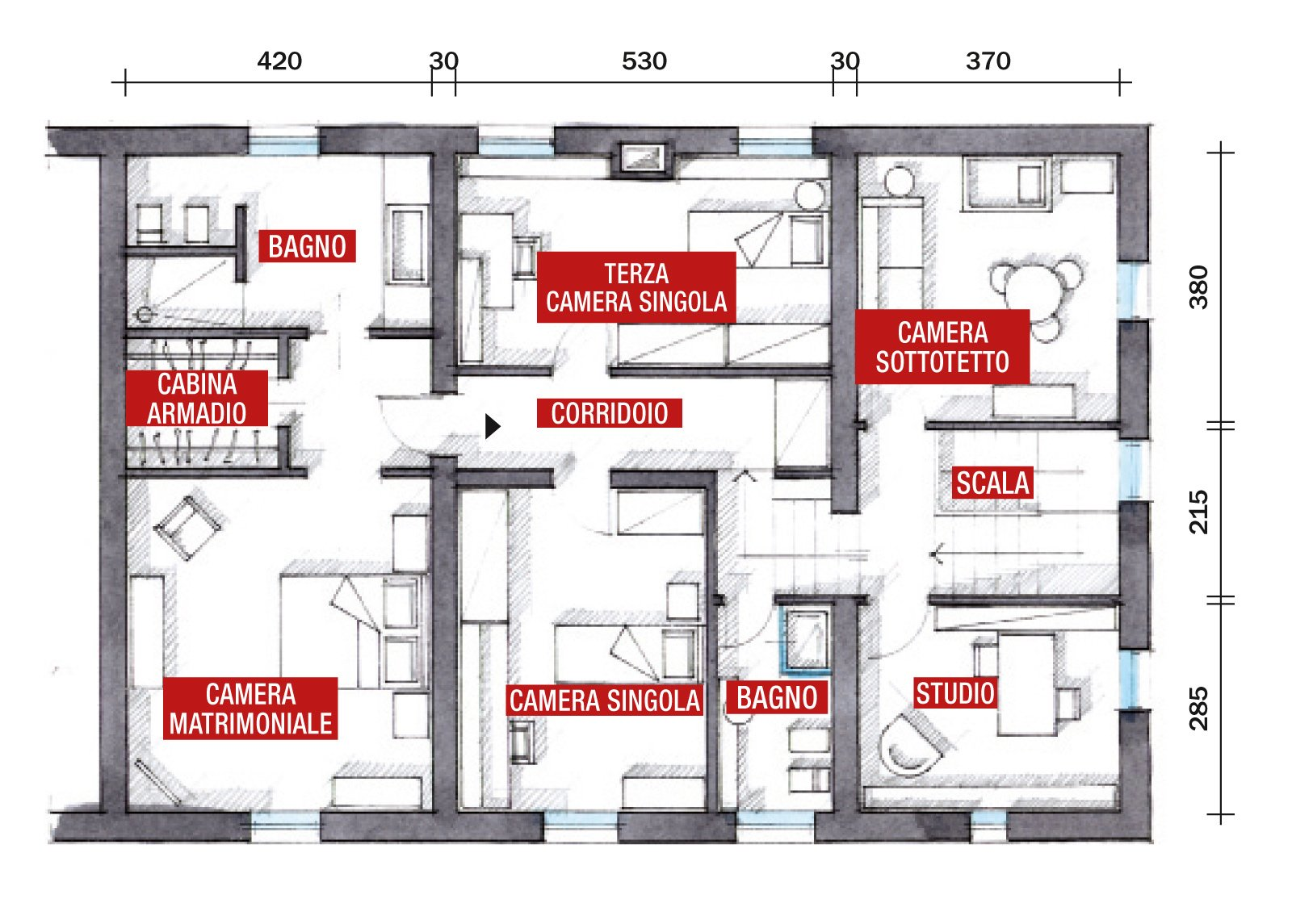 Casa classica con finiture e mobili d 39 epoca cose di casa for A forma di casa con piano piano unico