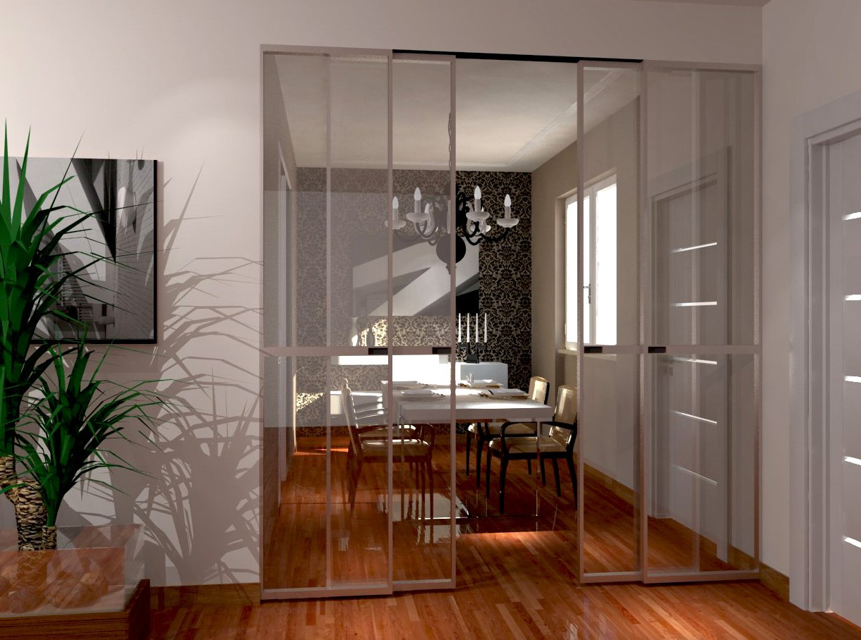 Soggiorno e zona pranzo a vista ma divisi cose di casa - Divisorio cucina soggiorno ...