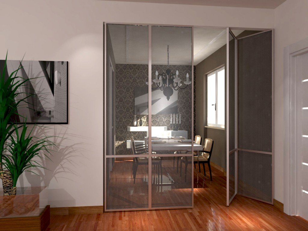Soggiorno E Zona Pranzo: A Vista Ma Divisi Cose Di Casa #A54D26 1024 768 Sala Da Pranzo Versace