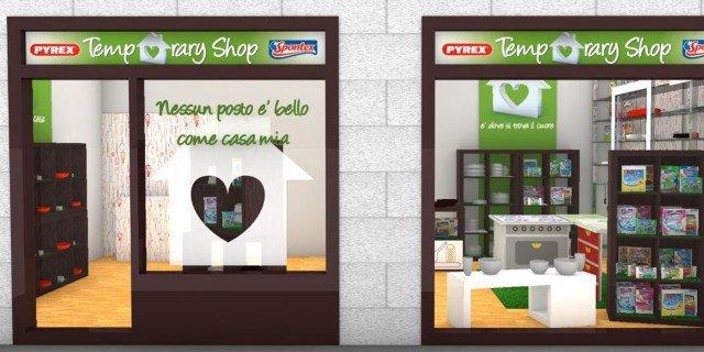 Temporary store Spontex e Pyrex, a Milano