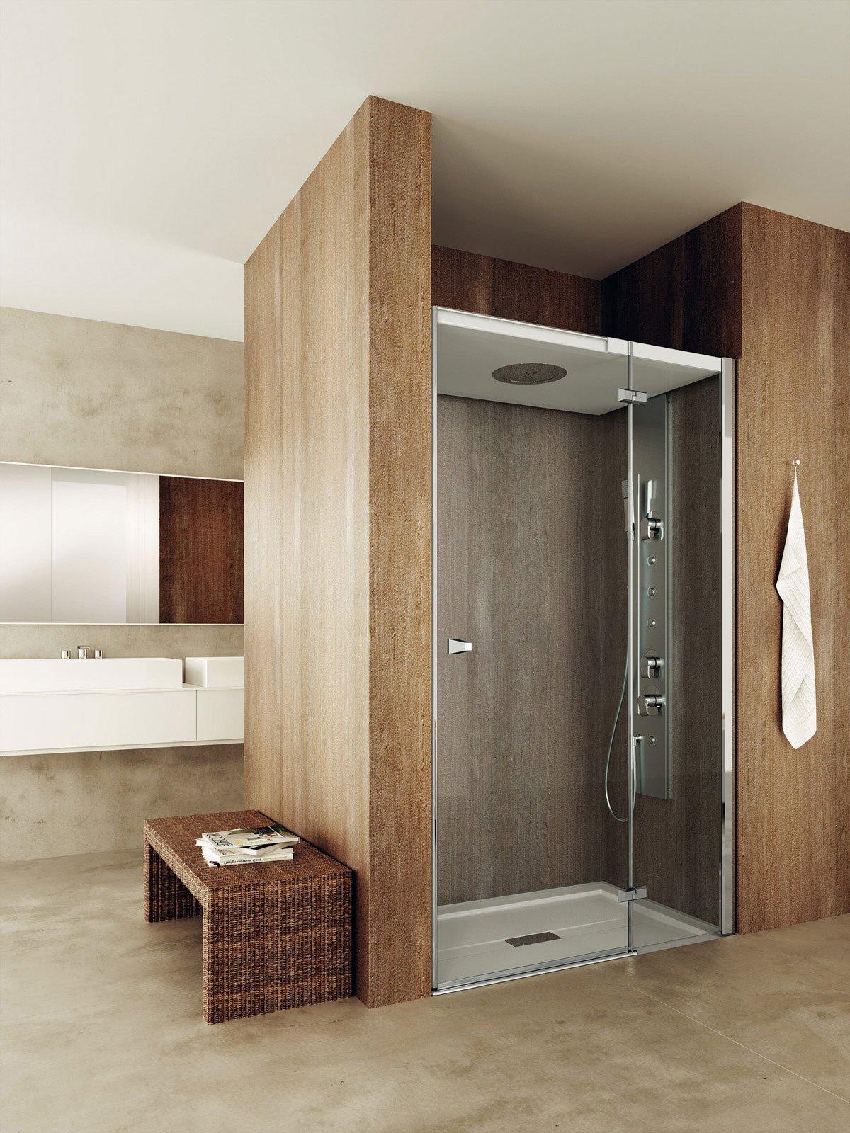Docce chiusure in vetro per modelli squadrati cose di casa - Porta doccia nicchia prezzi ...