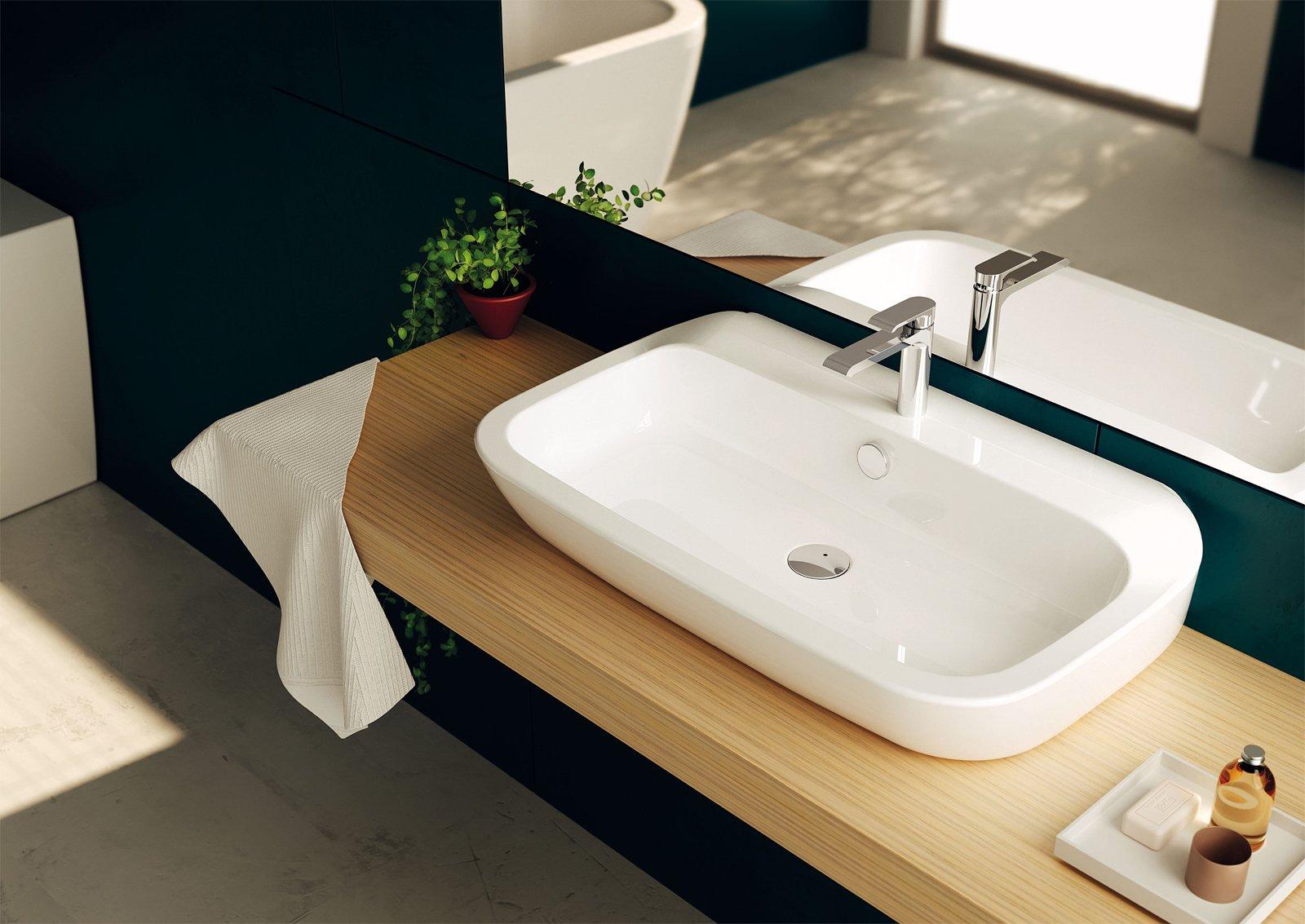 dappoggio il lavabo nauha di teuco in ceramica sanitaria bianca ha forme