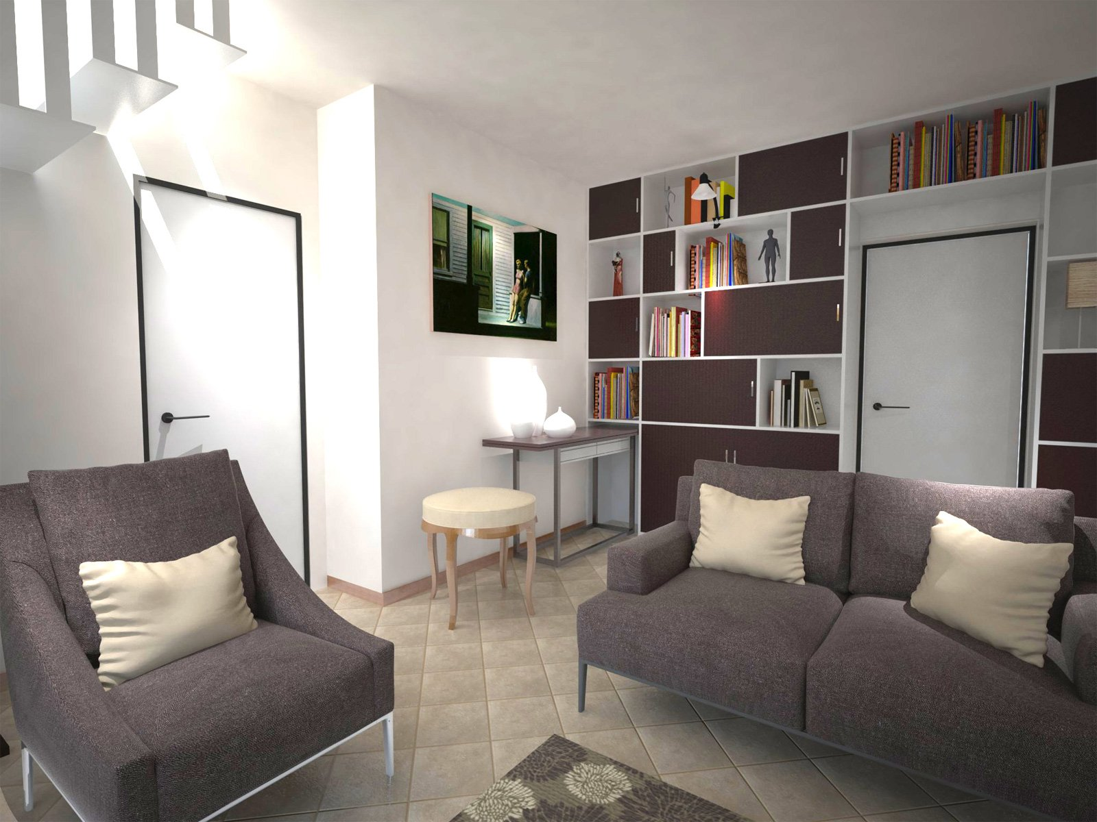 Arredare un soggiorno con tante aperture sulle pareti for Ingresso arredamento moderno