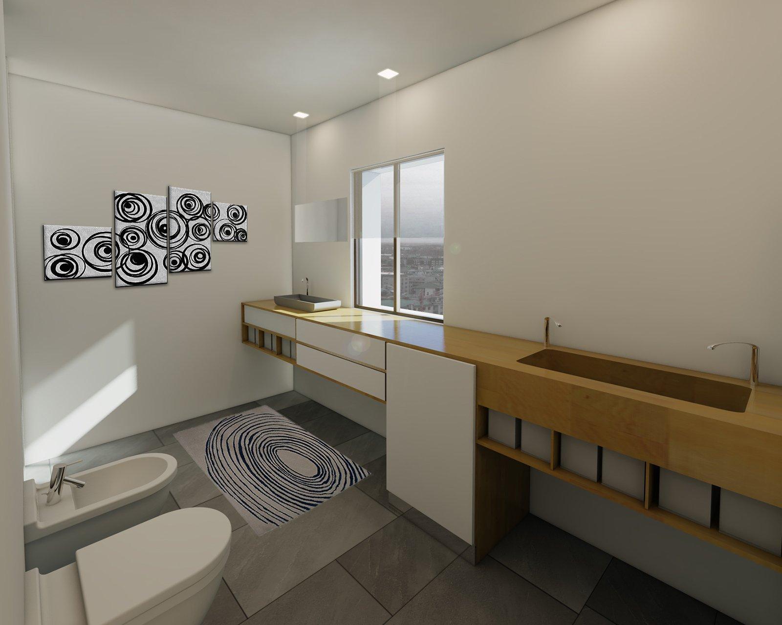 Bagno con zona lavanderia nascosta cose di casa - Lavanderia in bagno ...