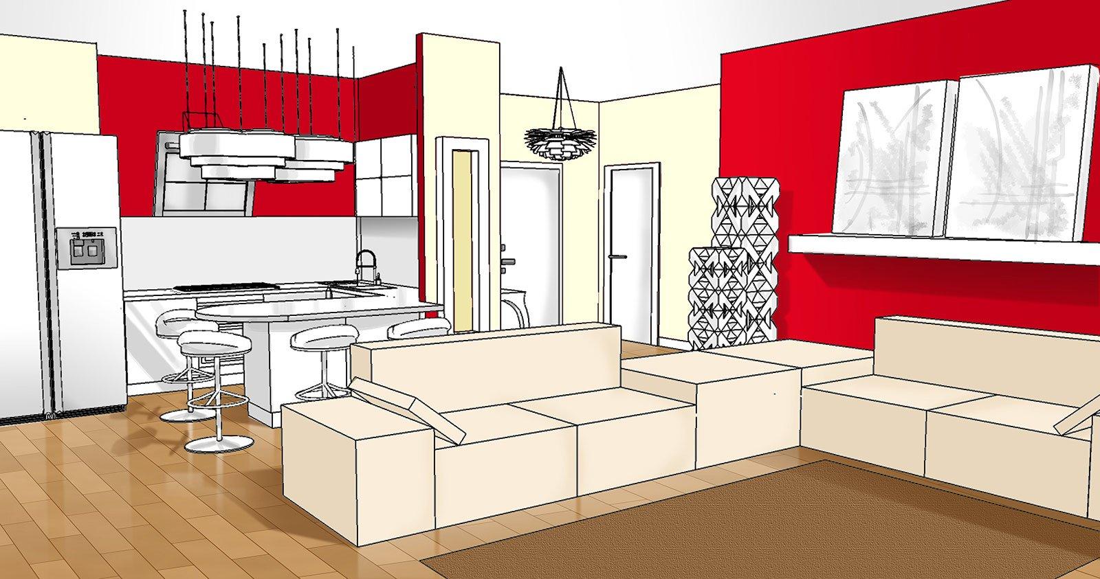 Ingresso aperto sul soggiorno idee da copiare cose di casa - Mondo convenienza mobili ingresso ...
