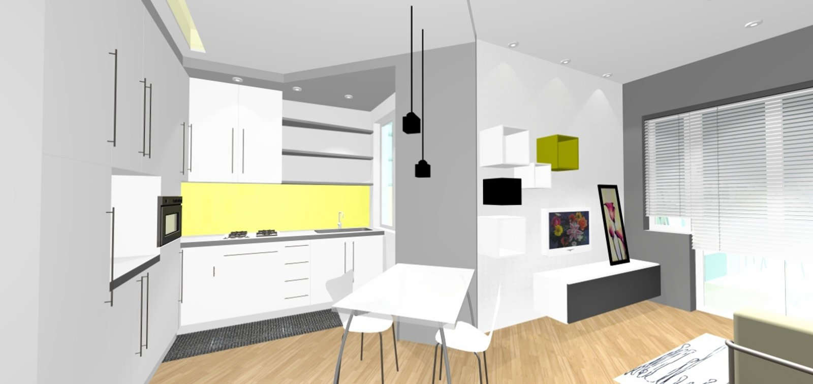 Bilocale con cucina a vista cose di casa - Cucine con lavatrice ...