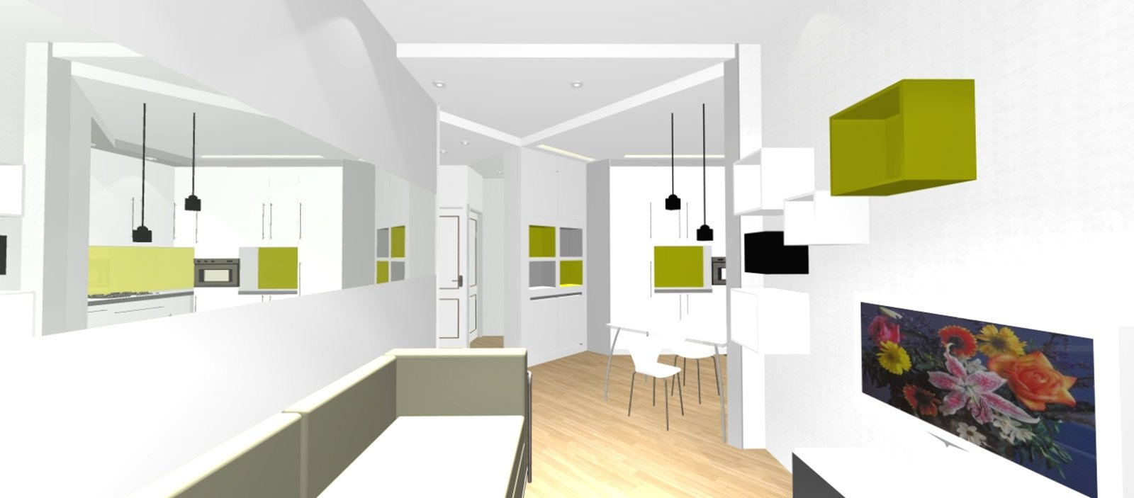 bilocale con cucina a vista - cose di casa - Design Soggiorno Angolo Cottura