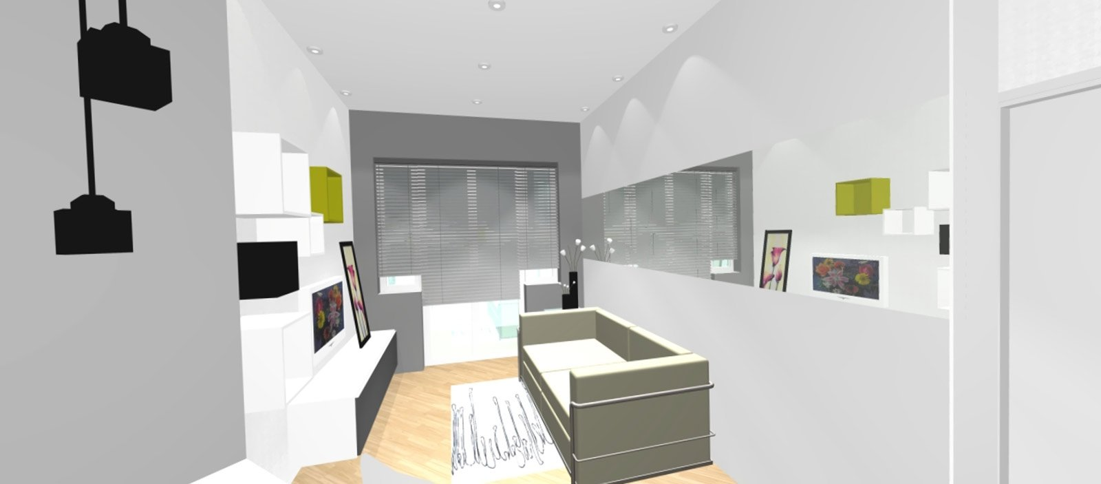 parete quinta in casa : Bilocale con cucina a vista - Cose di Casa