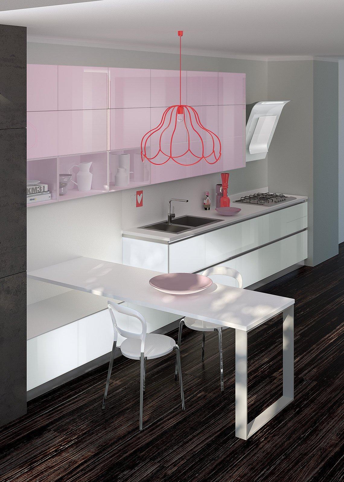 Di Tetrix La Coloratissima Cucina Di Scavolini: Il Lavello A Filo Del  #6F4642 1140 1600 Altezza Del Top Della Cucina
