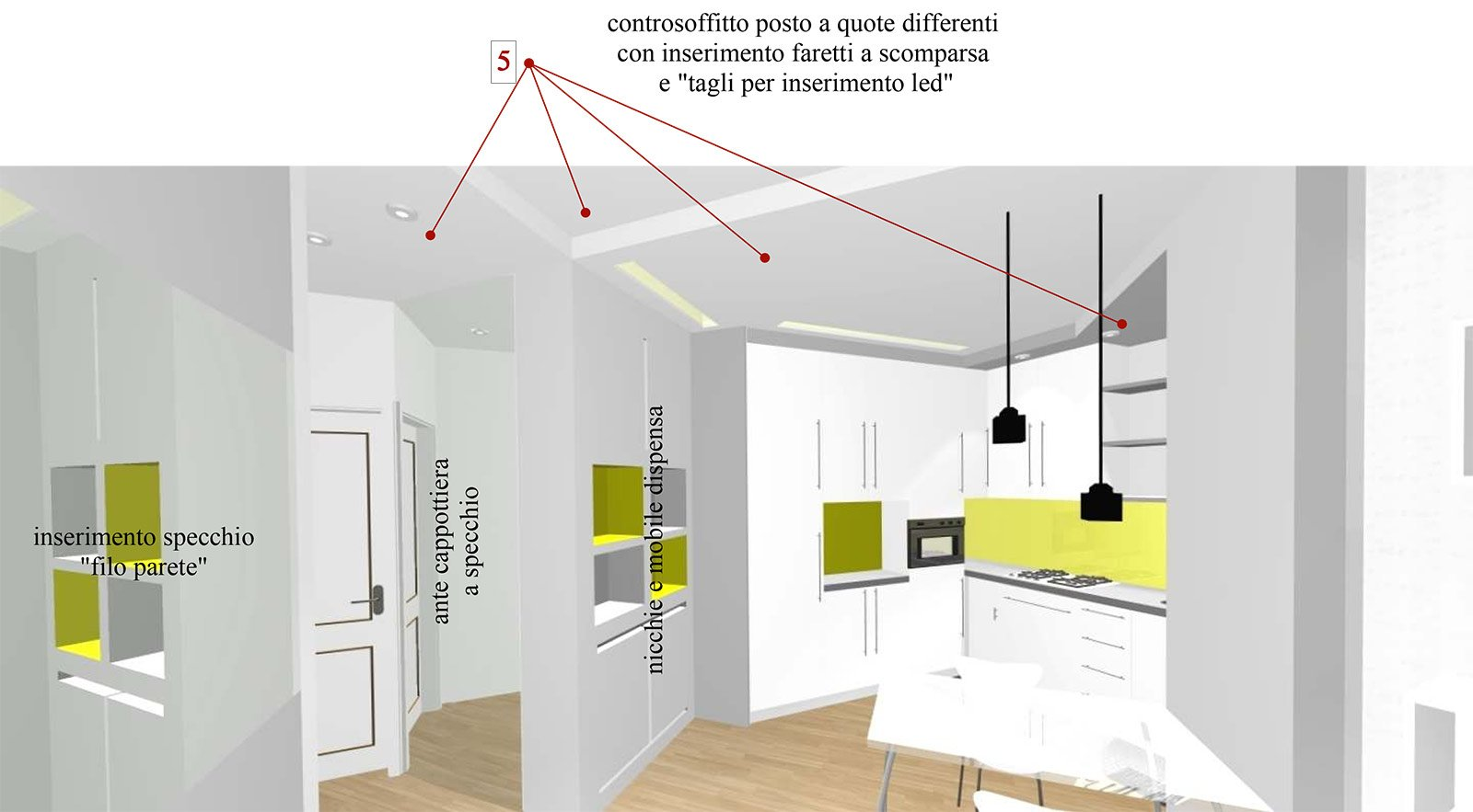 Bilocale Con Cucina A Vista Cose Di Casa #B1B11A 1600 883 Arredare Bilocale Con Cucina A Vista