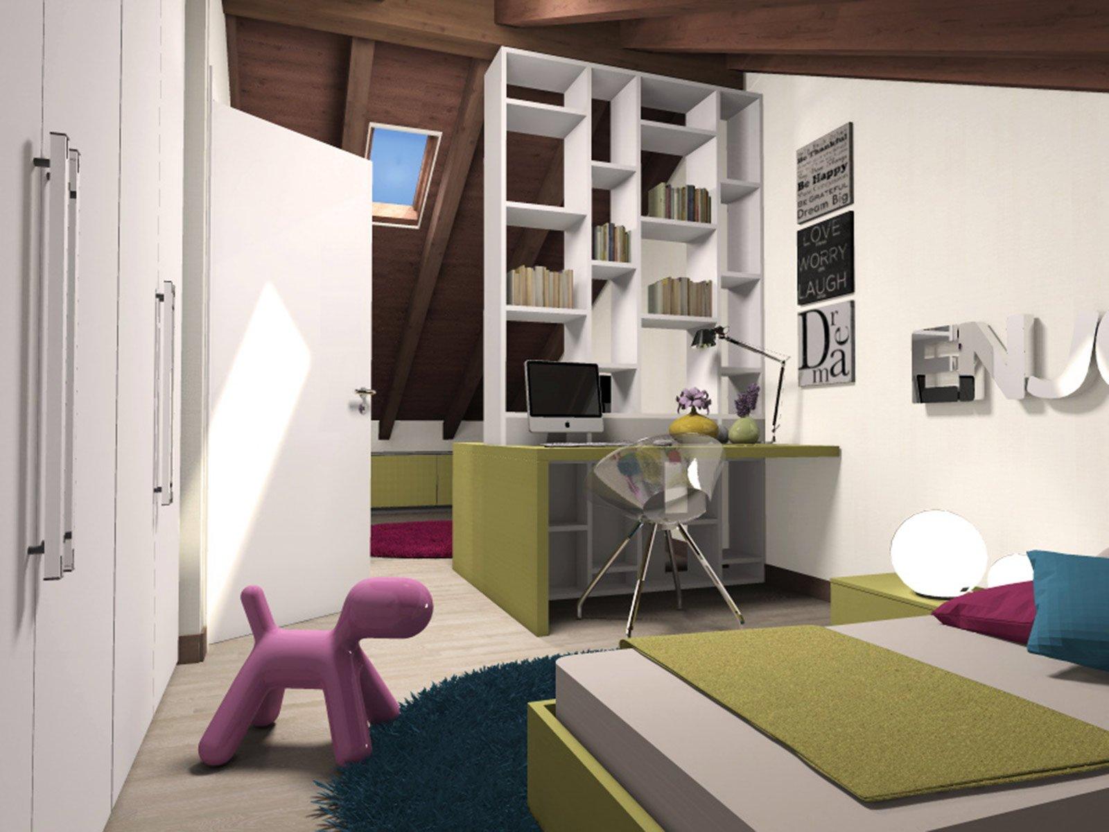 La mansarda da dividere in camera e studio cose di casa for Camera bambini design