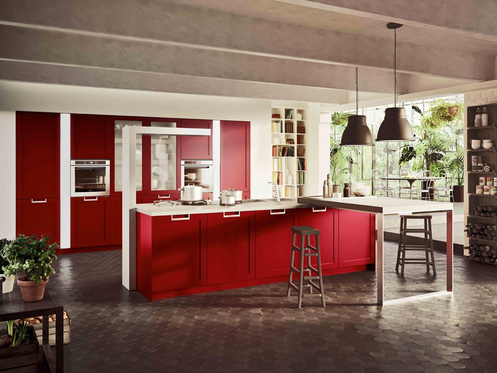 cucine: colori fluo per arredarla - cose di casa - Colore Rosso Ambienti Classici Moderni