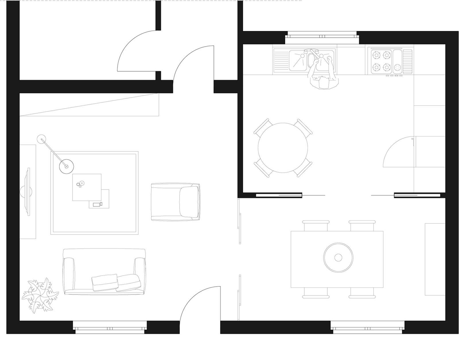 Soggiorno E Zona Pranzo: A Vista Ma Divisi Cose Di Casa #666666 1600 1193 Soggiorno E Sala Da Pranzo Insieme