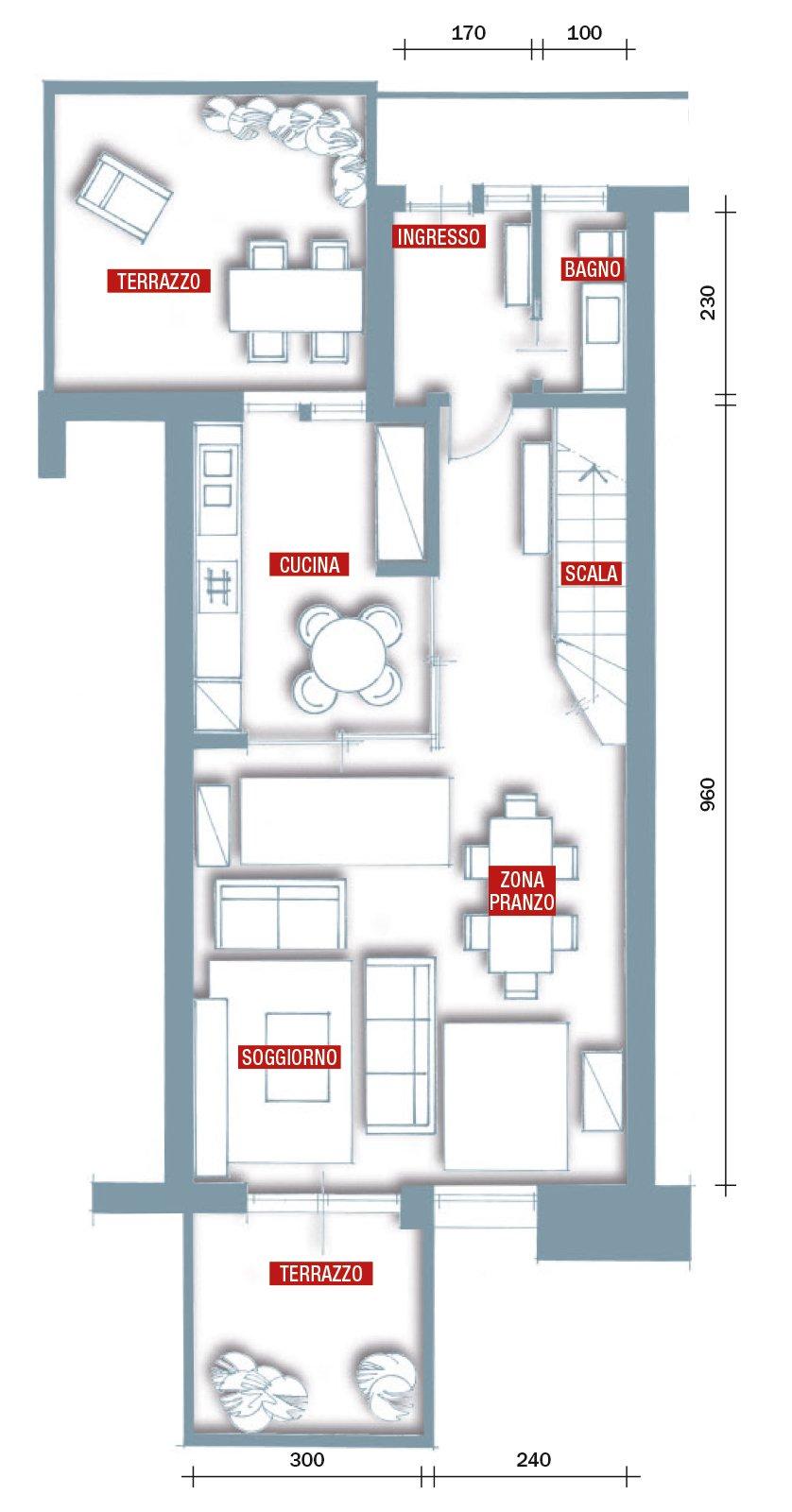 Una casa rinnovata nel look con luce moltiplicata cose for Piani di cabina di 800 piedi quadrati