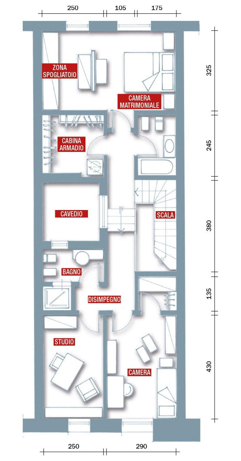 Una casa rinnovata nel look con luce moltiplicata cose for Pianta dell appartamento da 300 piedi quadrati